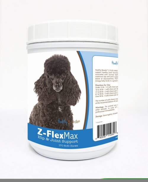 Healthy Breeds 840235112358 Poodle Z-Flex Max Hip & Joint Soft Chews - 170 Count