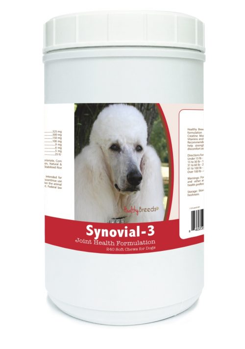 Healthy Breeds 840235112389 Poodle Synovial-3 Joint Health Formulation - 240 Count