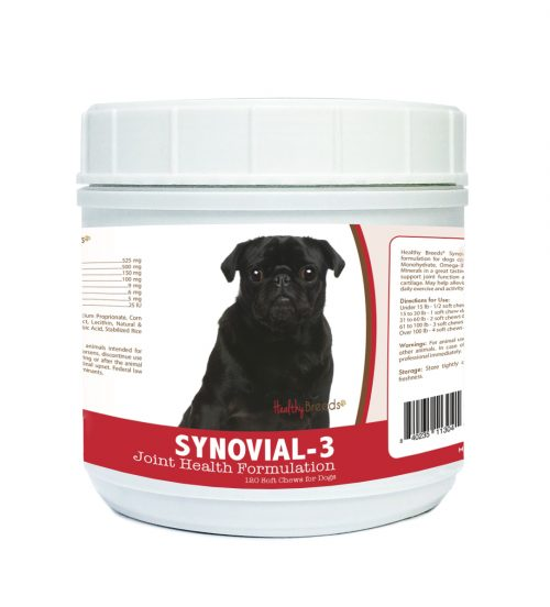 Healthy Breeds 840235113041 Pug Synovial-3 Joint Health Formulation - 120 Count