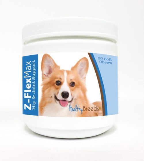 Healthy Breeds 840235113218 Pembroke Welsh Corgi Z-Flex Max Hip & Joint Soft Chews - 50 Count