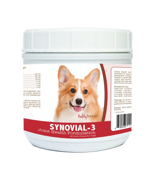 Healthy Breeds 840235113249 Pembroke Welsh Corgi Synovial-3 Joint Health Formulation - 120 Count