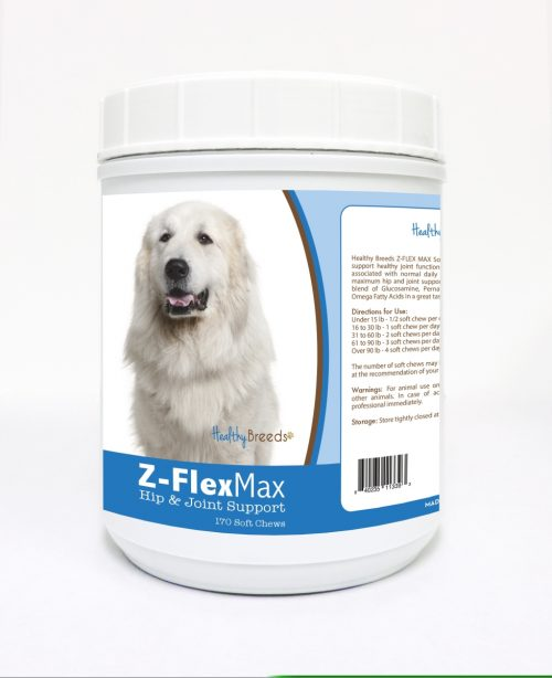 Healthy Breeds 840235113393 Great Pyrenees Z-Flex Max Hip & Joint Soft Chews - 170 Count