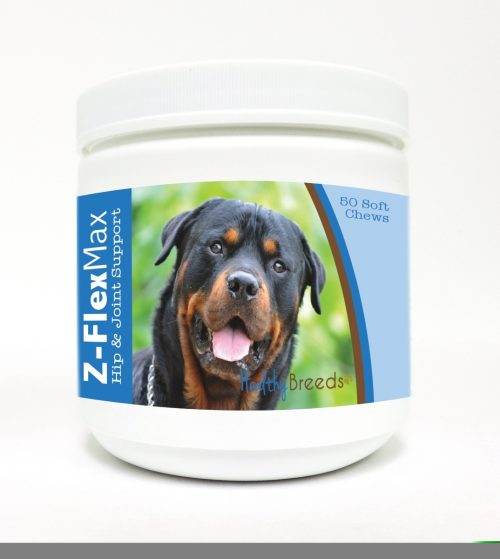 Healthy Breeds 840235113683 Rottweiler Z-Flex Max Hip & Joint Soft Chews - 50 Count