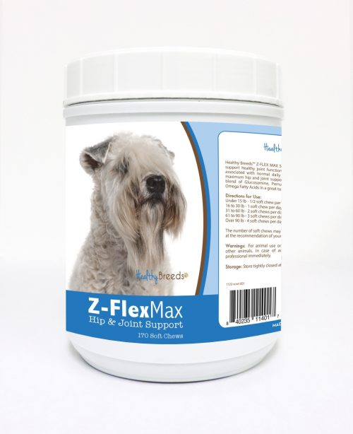 Healthy Breeds 840235114017 Soft Coated Wheaten Terrier Z-Flex Max Hip & Joint Soft Chews - 170 Count