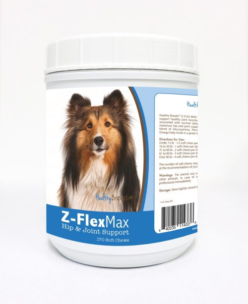 Healthy Breeds 840235114338 Shetland Sheepdog Z-Flex Max Hip & Joint Soft Chews - 170 Count