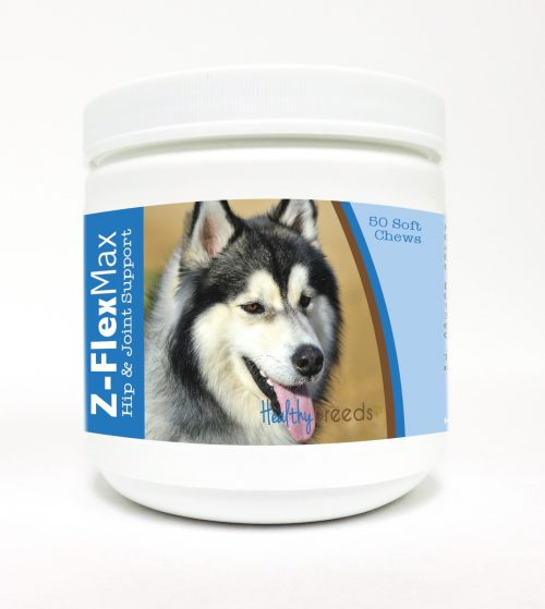 Healthy Breeds 840235114499 Siberian Husky Z-Flex Max Hip & Joint Soft Chews - 50 Count