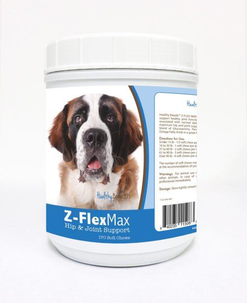 Healthy Breeds 840235115083 Saint Bernard Z-Flex Max Hip & Joint Soft Chews 170 Count