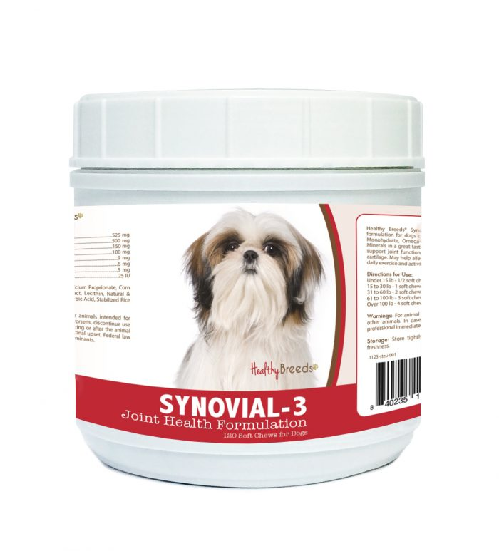 Healthy Breeds 840235115519 Shih Tzu Synovial-3 Joint Health Formulation 120 Count