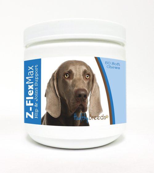 Healthy Breeds 840235116134 Weimaraner Z-Flex Max Hip & Joint Soft Chews 50 Count
