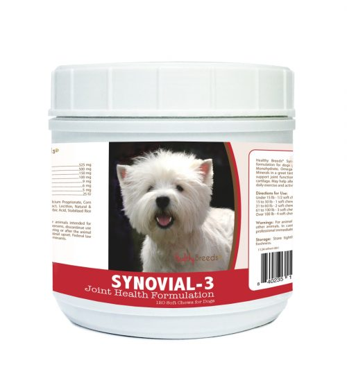 Healthy Breeds 840235116585 West Highland White Terrier Synovial-3 Joint Health Formulation 120 Count