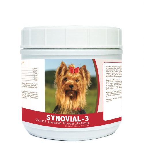 Healthy Breeds 840235116967 Yorkshire Terrier Synovial-3 Joint Health Formulation 120 Count