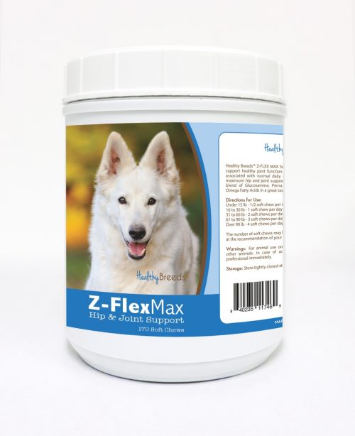 Healthy Breeds 840235117469 German Shepherd Z-Flex Max Hip & Joint Soft Chews 170 Count
