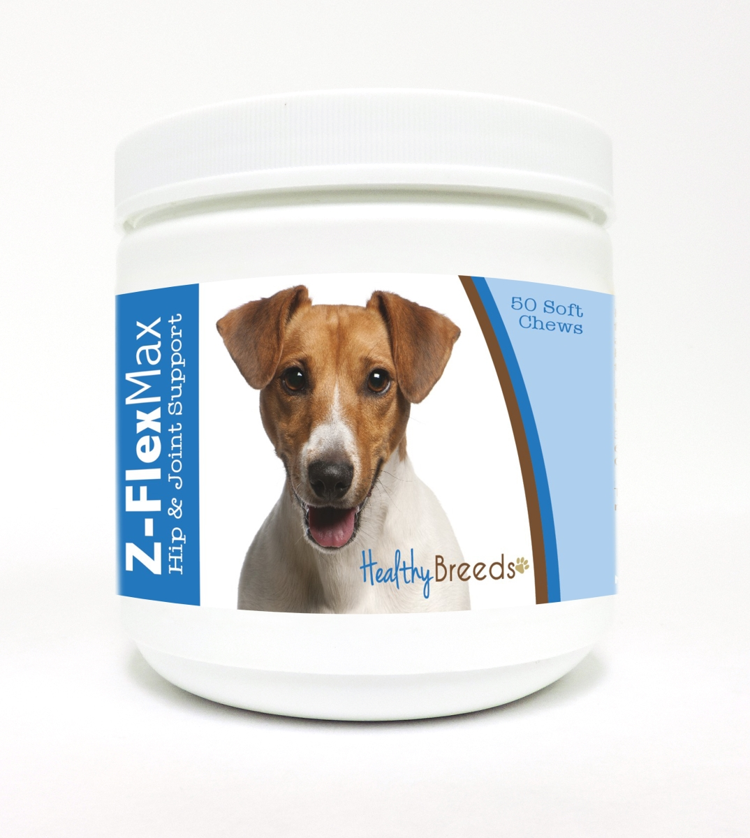 Healthy Breeds 840235117612 Jack Russell Terrier Z-Flex Max Hip & Joint Soft Chews 50 Count