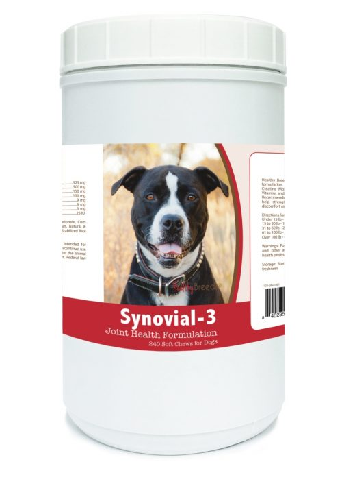 Healthy Breeds 840235117841 Pit Bull Synovial-3 Joint Health Formulation 240 Count