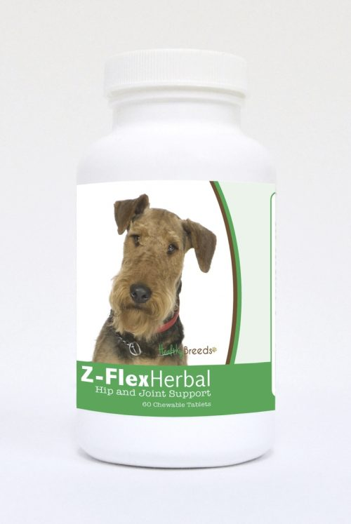 Healthy Breeds 840235118329 Airedale Terrier Natural Joint Support Chewable Tablets 60 Count
