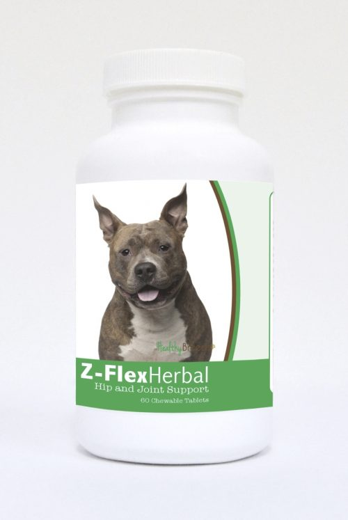 Healthy Breeds 840235118459 American Staffordshire Terrier Natural Joint Support Chewable Tablets 60 Count