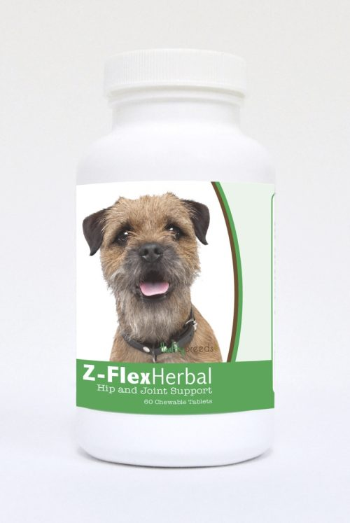 Healthy Breeds 840235118732 Border Terrier Natural Joint Support Chewable Tablets - 60 Count