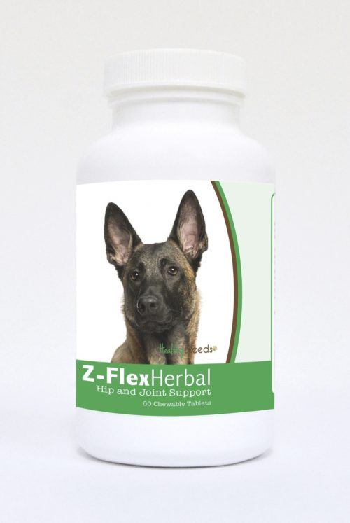 Healthy Breeds 840235119012 Belgian Malinois Natural Joint Support Chewable Tablets - 60 Count