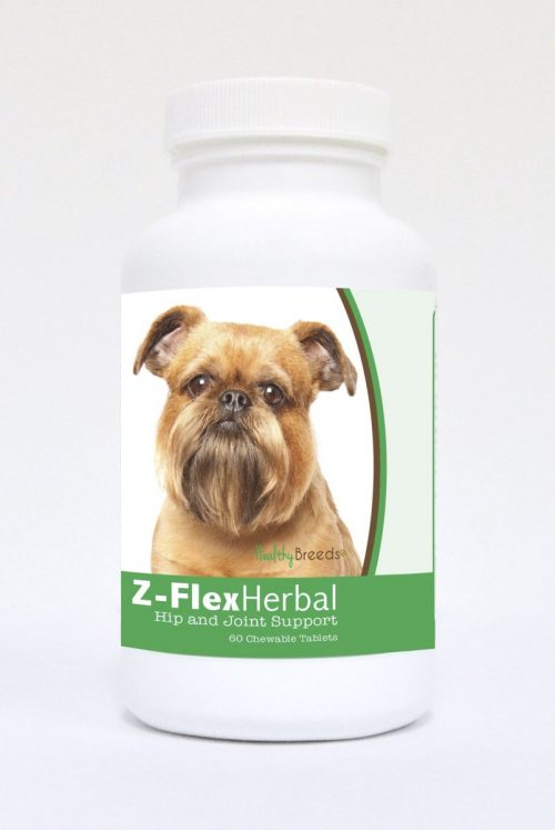 Healthy Breeds 840235119388 Brussels Griffon Natural Joint Support Chewable Tablets - 60 Count