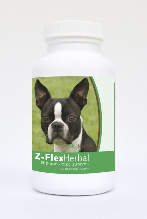 Healthy Breeds 840235119463 Boston Terrier Natural Joint Support Chewable Tablets - 60 Count
