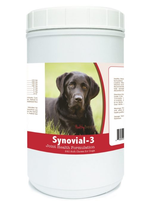 Healthy Breeds 840235120704 Labrador Retriever Synovial-3 Joint Health Formulation - 240 Count