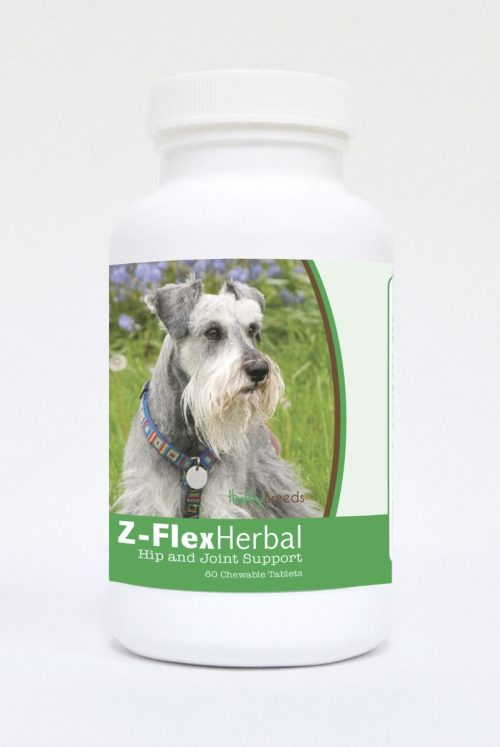Healthy Breeds 840235123194 Miniature Schnauzer Natural Joint Support Chewable Tablets - 60 Count