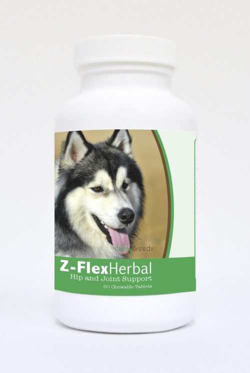 Healthy Breeds 840235124931 Siberian Husky Natural Joint Support Chewable Tablets - 60 Count