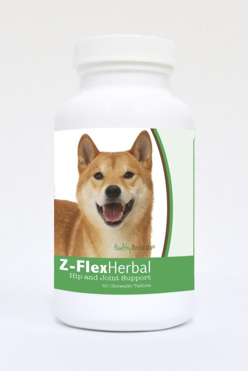 Healthy Breeds 840235125037 Shiba Inu Natural Joint Support Chewable Tablets - 60 Count