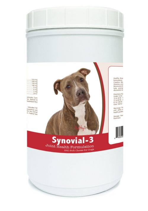Healthy Breeds 840235129189 Pit Bull Synovial-3 Joint Health Formulation - 240 Count