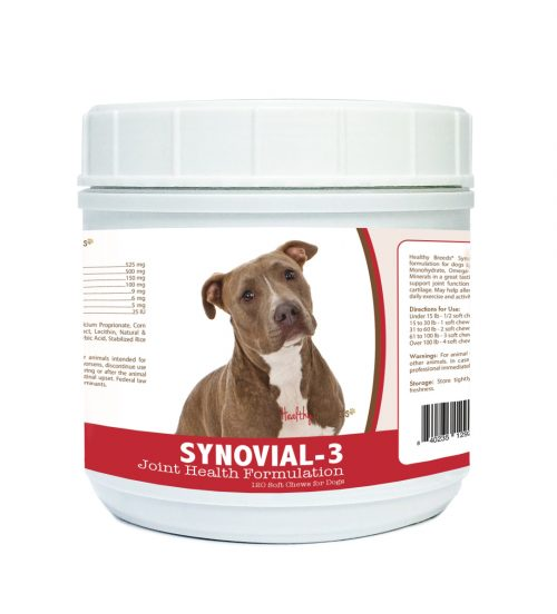 Healthy Breeds 840235129202 Pit Bull Synovial-3 Joint Health Formulation - 120 Count