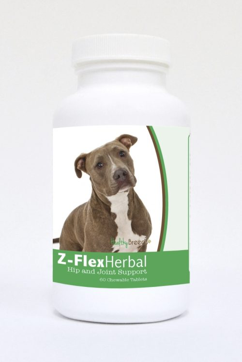 Healthy Breeds 840235129424 Pit Bull Natural Joint Support Chewable Tablets - 60 Count