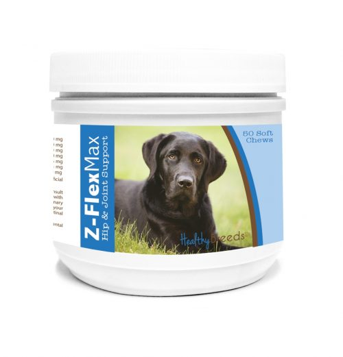 Healthy Breeds 840235134688 Labrador Retriever Z-Flex Max Hip & Joint Soft Chews - 50 Count