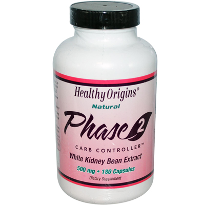 Healthy Origins 0987636 Phase 2 Carb Controller - 500 mg - 180 Capsules