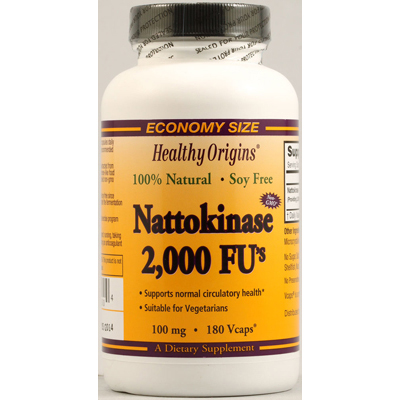 Healthy Origins 1099571 Nattokinase 2000 FUs - 100 mg - 180 Vcaps
