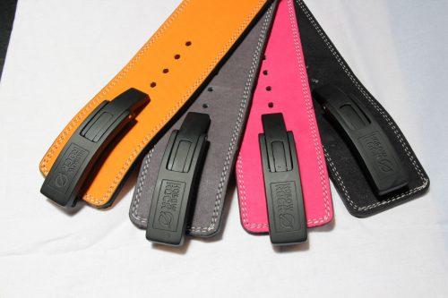 HollowRock Gear ACLB0210M 39 in. Platinum 7 mm Weight Lifting Lever Belt Orange - Medium