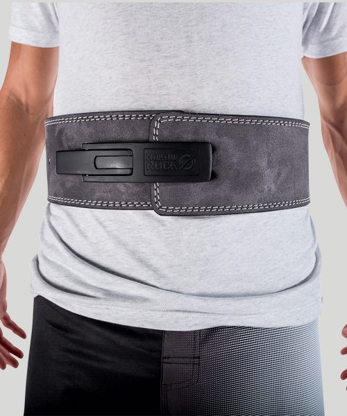 HollowRock Gear ACLB023S 35 in. Platinum 7 mm Weight Lifting Lever Belt Gray - Small