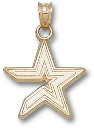 "Houston Astros ""Star"" 5/8"" Pendant - 10KT Gold Jewelry"