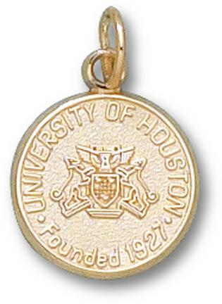 """Houston Cougars """"Seal"""" 1/2"""" Charm - 10KT Gold Jewelry"""