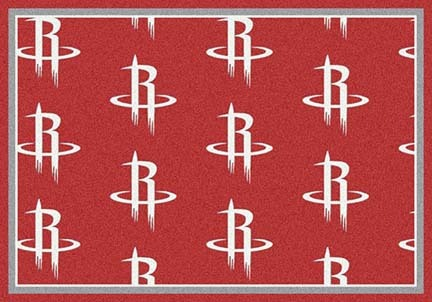 "Houston Rockets 2' 1"" x 7' 8"" Team Repeat Area Rug Runner"