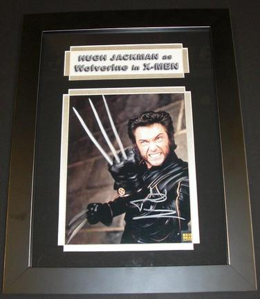 "Hugh Jackman Autographed ""X-Men"" 8"" x 10"" Custom Framed Photograph"