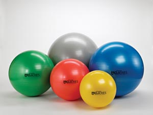 Hygenic Theraband HYC 23125 55 cm Exercise Ball with 10 Instructional Poster Red - 10 Each Per Case