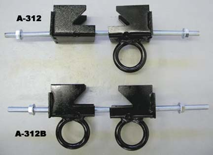 "I-Beam Clamp with Double Rings for Climbing Ropes with Double Rings (Flange width from 3-1/2"" through 12"")"