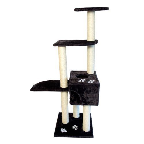 Iconic Pet 51527 High Quality Mid Condo Cat Tree Furniture - Dark Gray