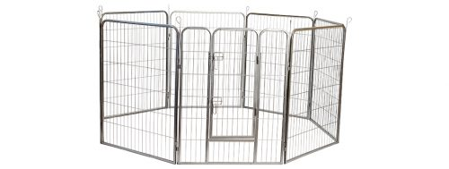 Iconic Pet 92150 48h in. Heavy Duty Metal Tube Pen Pet Dog Exercise & Training Playpen