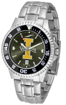 Idaho Vandals Competitor AnoChrome Men's Watch with Steel Band and Colored Bezel