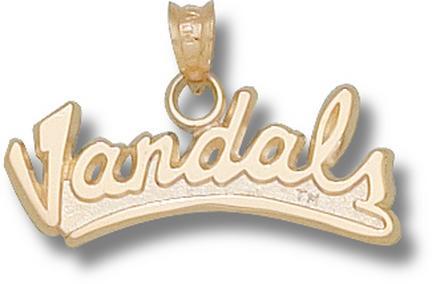 "Idaho Vandals Script ""Vandals"" Pendant - 10KT Gold Jewelry"