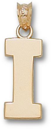 "Illinois Fighting Illini Block ""I"" 5/8"" Pendant - 10KT Gold Jewelry"