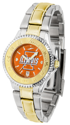 Illinois Fighting Illini Competitor AnoChrome Ladies Watch with Two-Tone Band