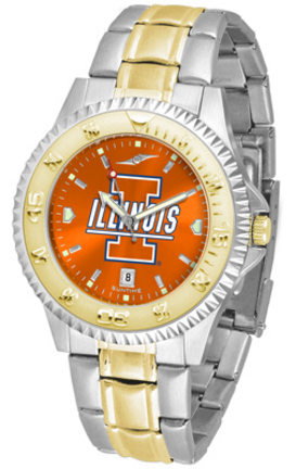 Illinois Fighting Illini Competitor AnoChrome Two Tone Watch