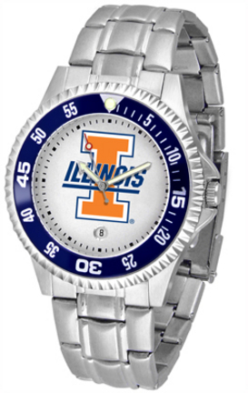 Illinois Fighting Illini Competitor Watch with a Metal Band